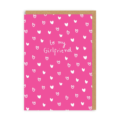 To My Girlfriend Greeting Card