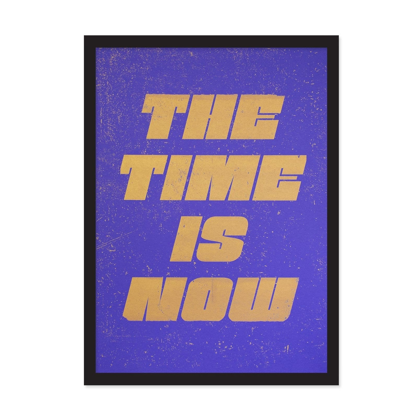 A3 The Time Is Now Riso Print