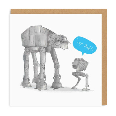 Sup Dad Square Greeting Card