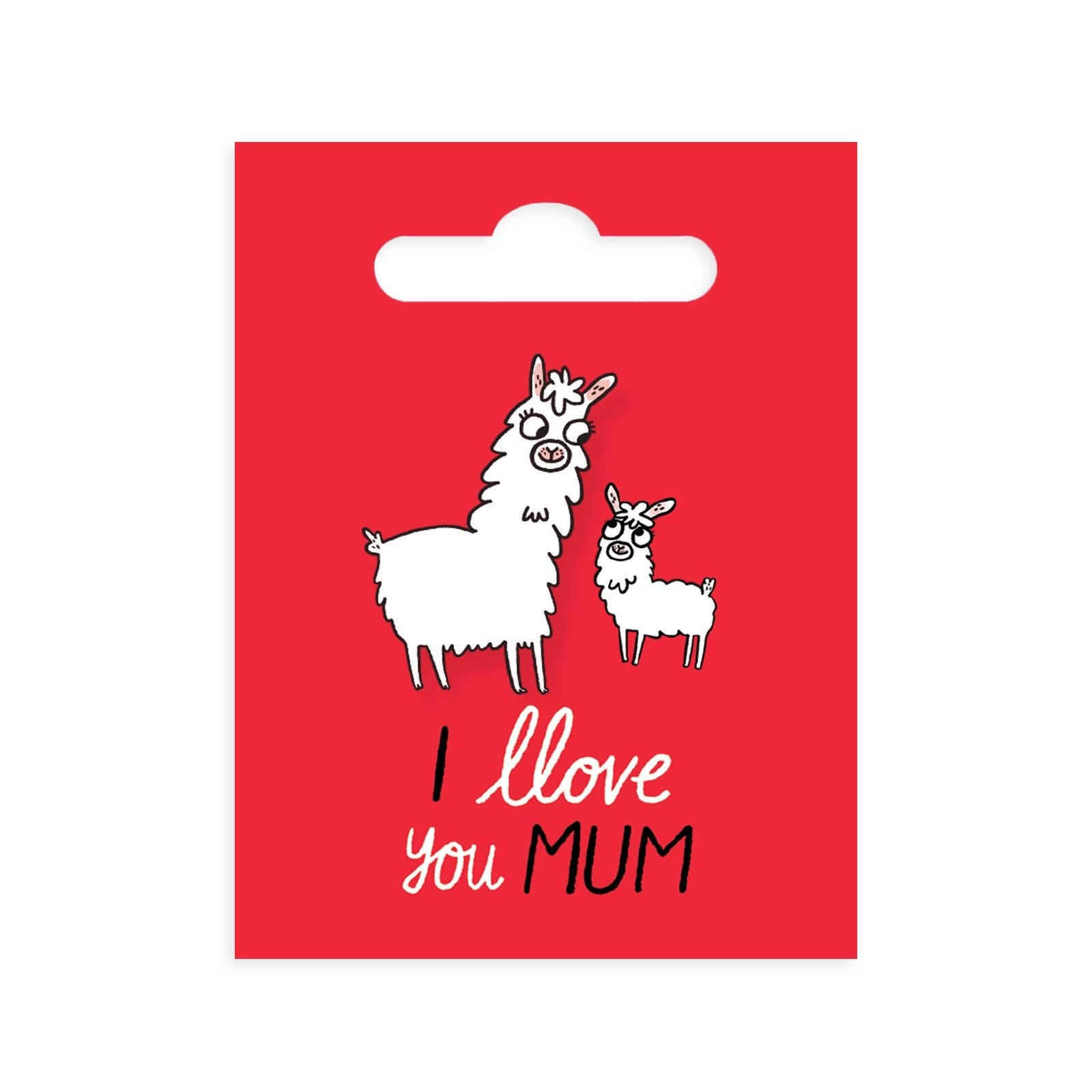 Llove You Mum Enamel Pin