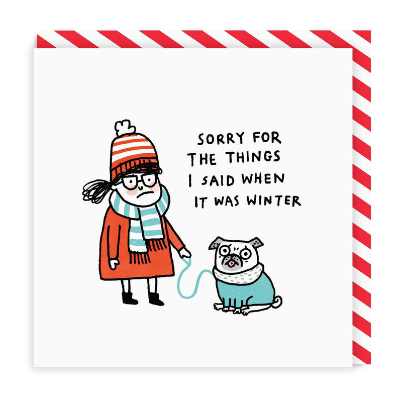 When It Was Winter Square Greeting Card
