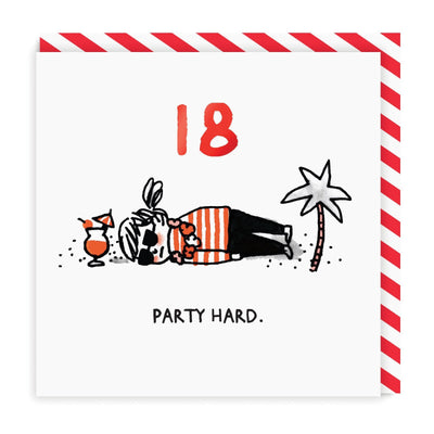 18 Party Hard Greeting Card