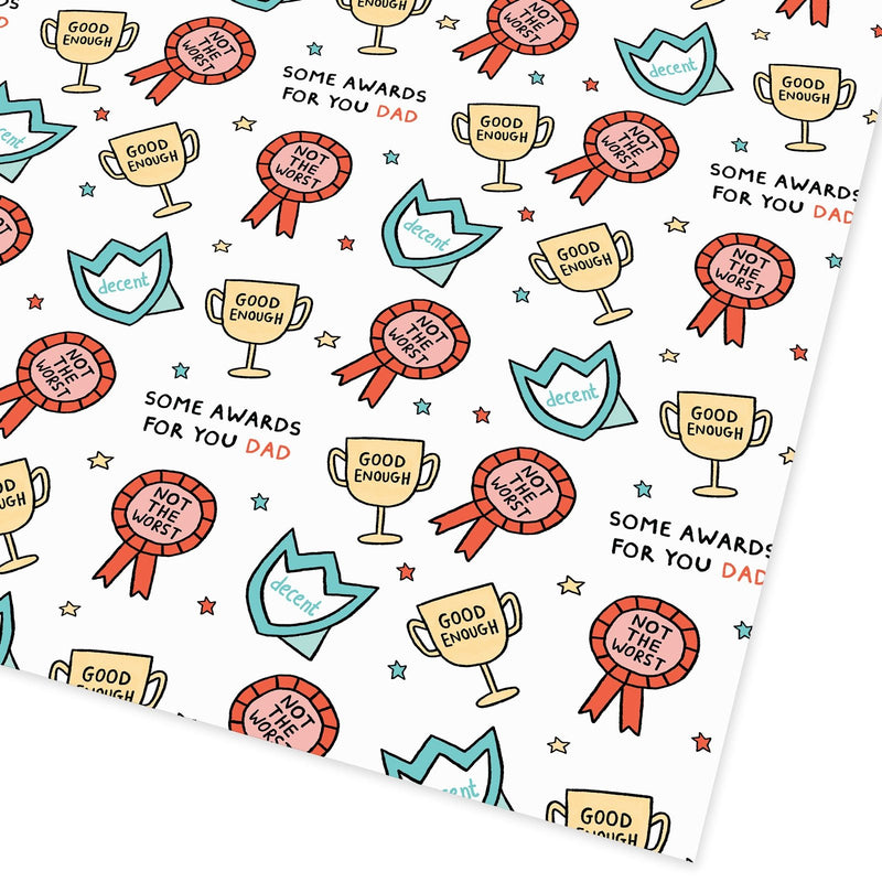 Dad Awards Flat Giftwrap