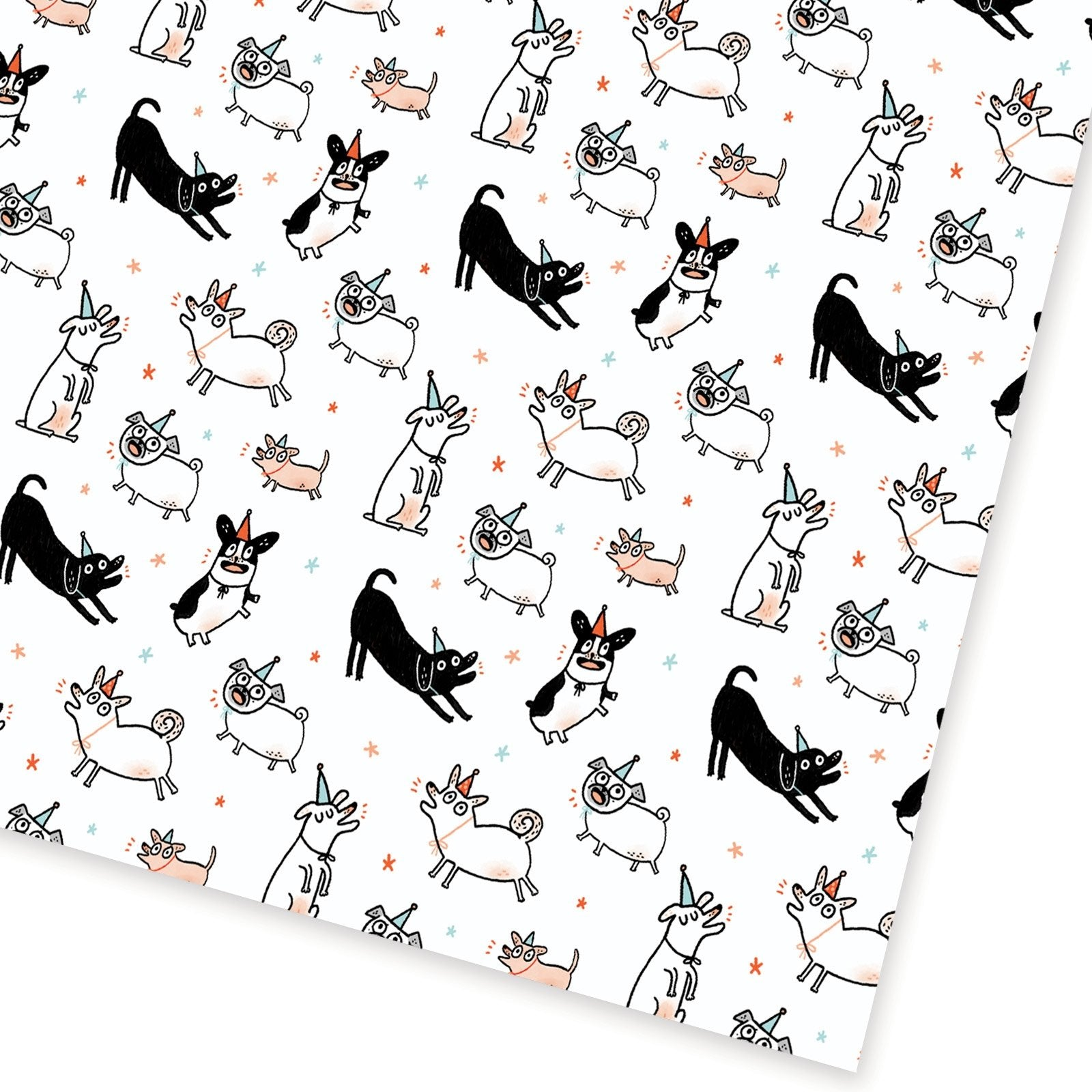 Party Dogs Flat Gift Wrap
