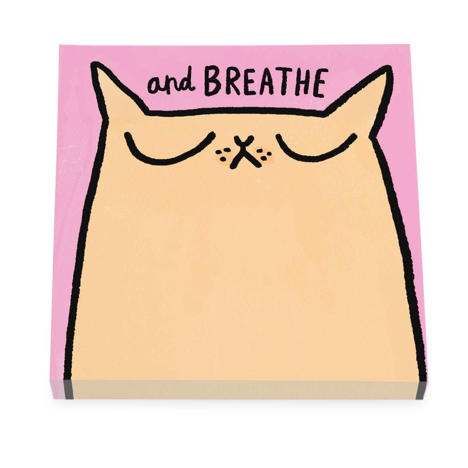 Breathe Cat Sticky Notes