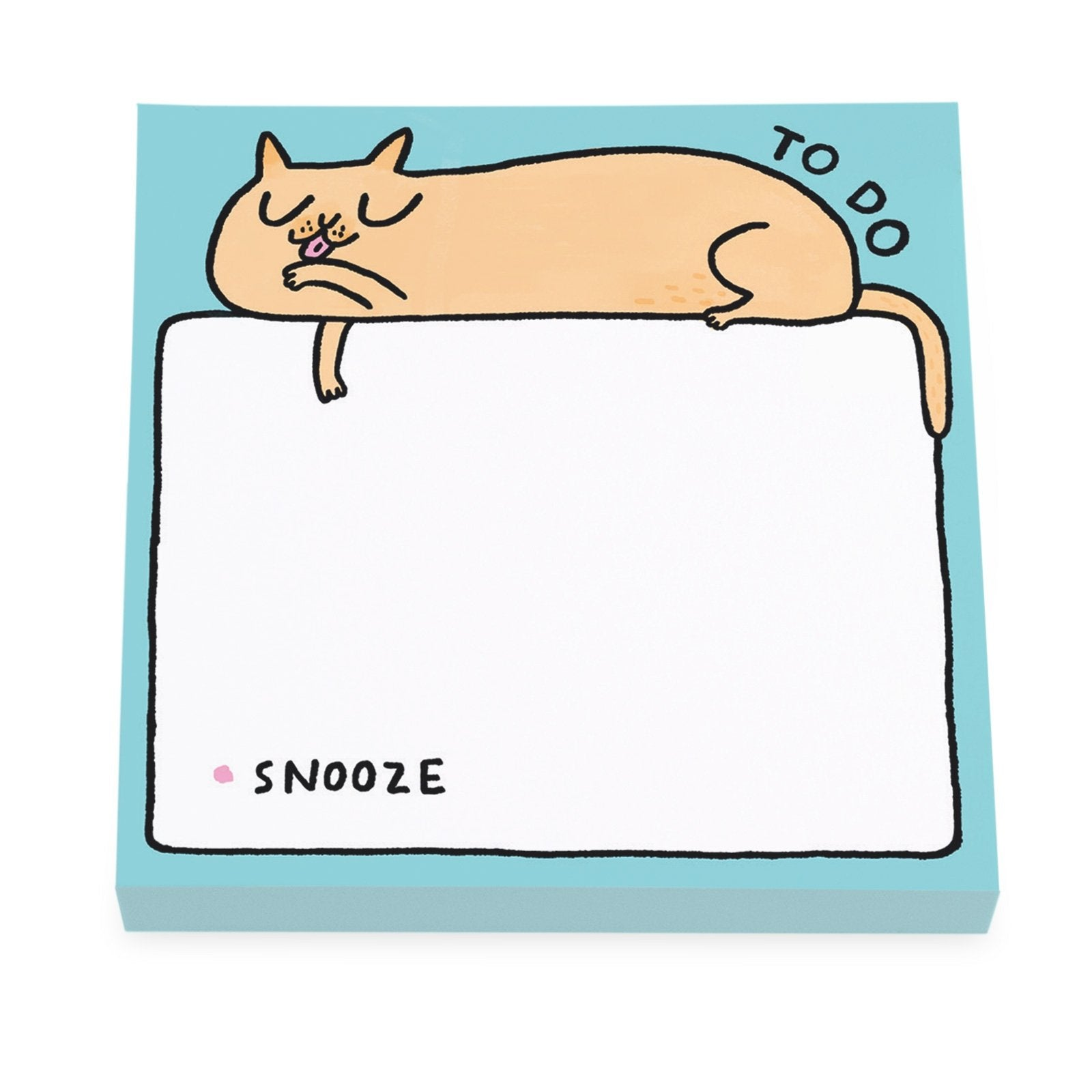 To Do Snooze Cat Sticky Notes
