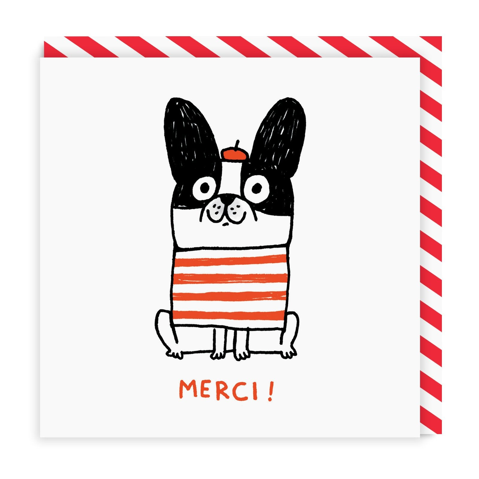 Merci Square Greeting Card