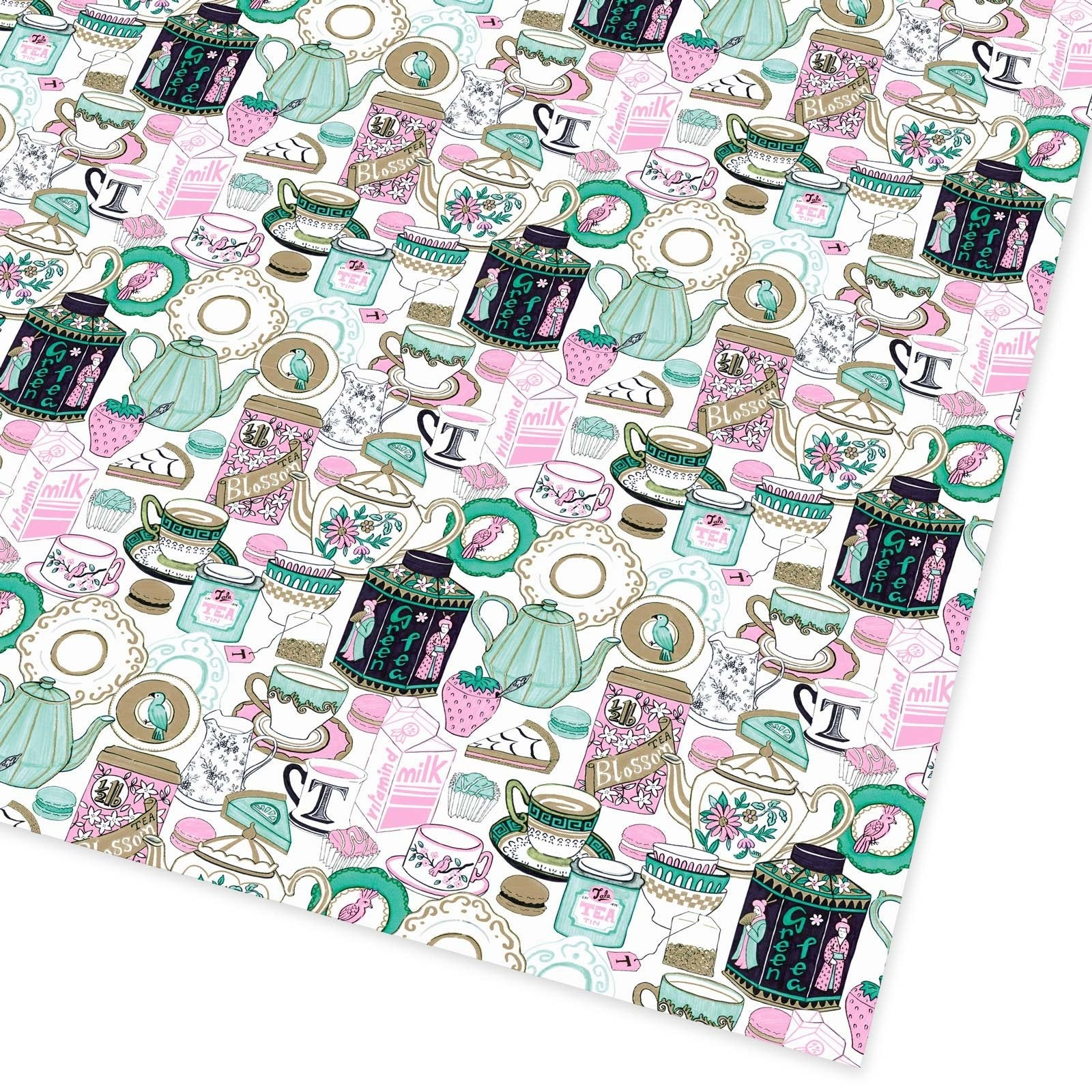 Tea Time Flat Giftwrap