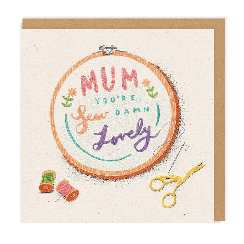 Mum, Sew Damn Lovely Square Greeting Card