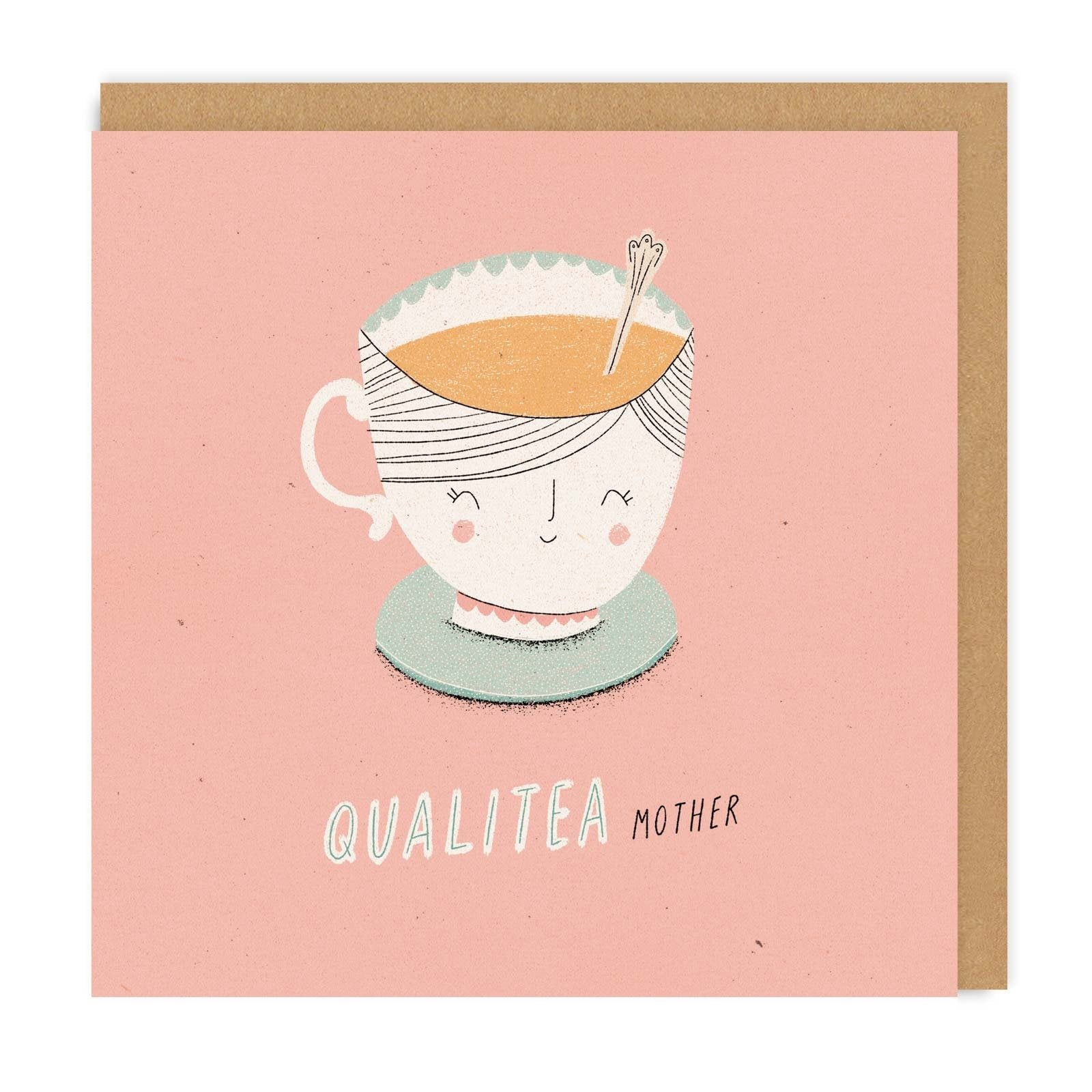Quali-tea Mother Square Greeting Card