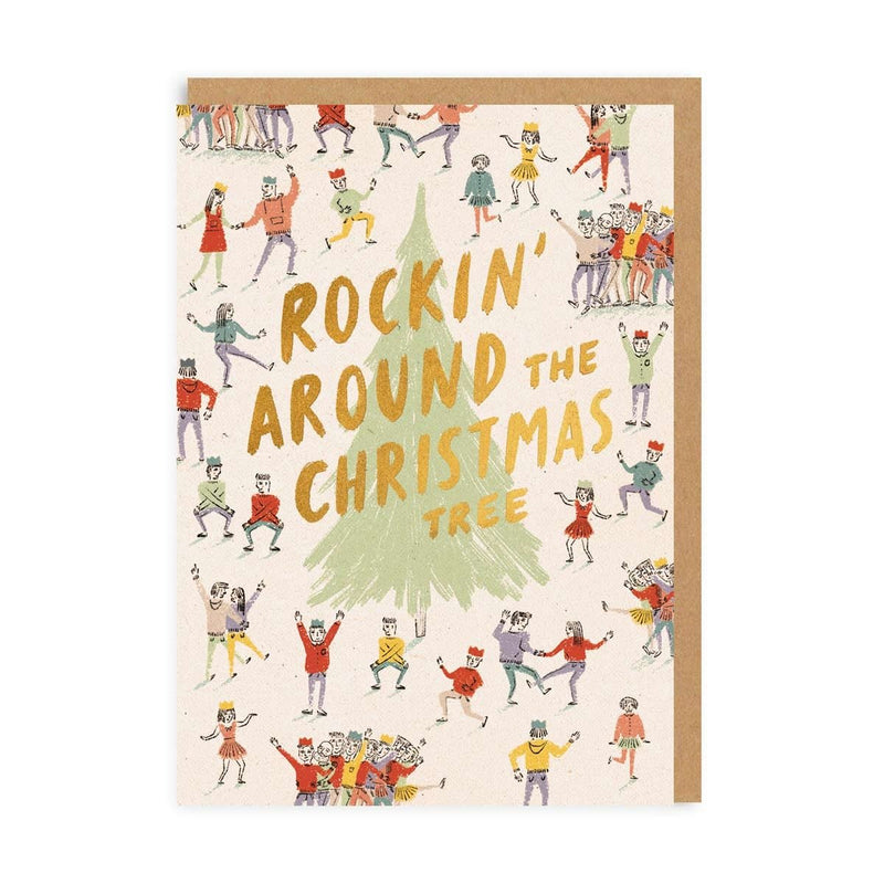 Rockin' Around The Christmas Tree Greeting Card