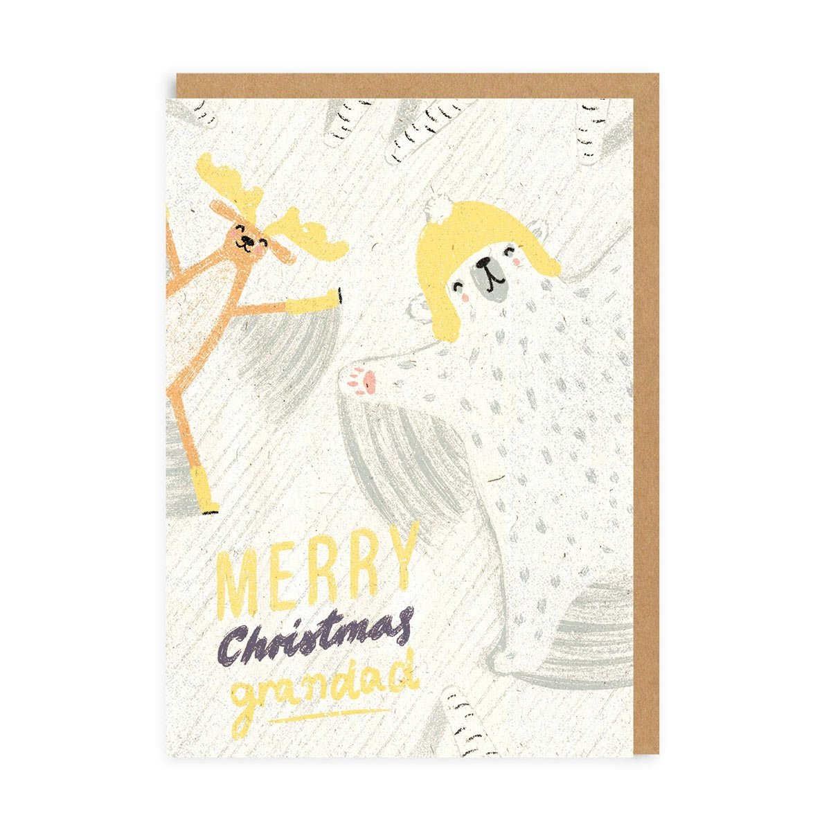 Snow Angel Grandad Greeting Card
