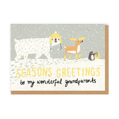 Winter Wonderland Grandparents Greeting Card