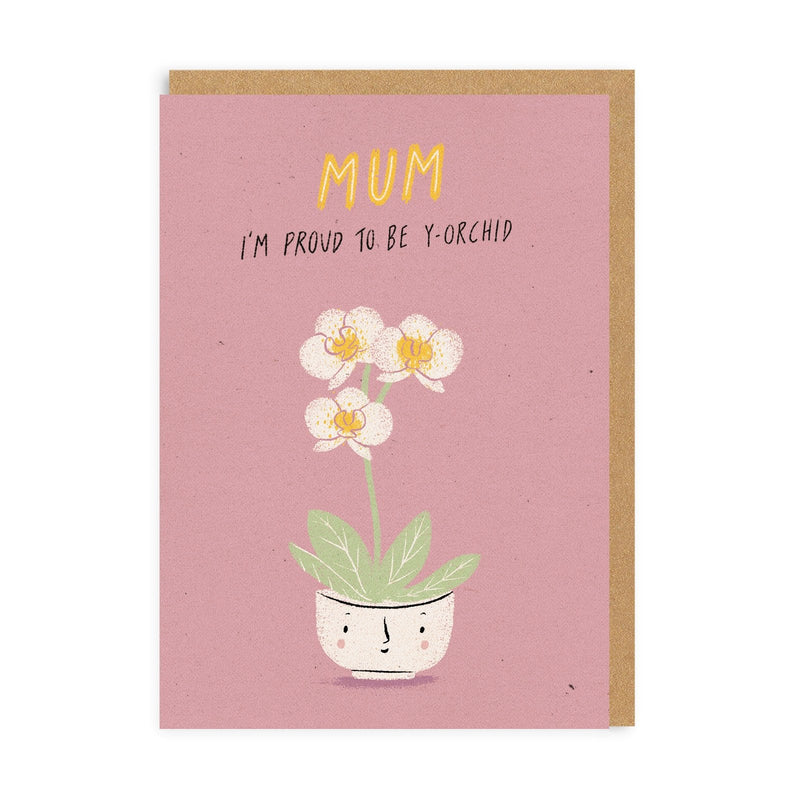Mum Y-Orchid Greeting Card