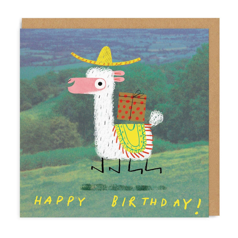 Alpaca Square Greeting Card