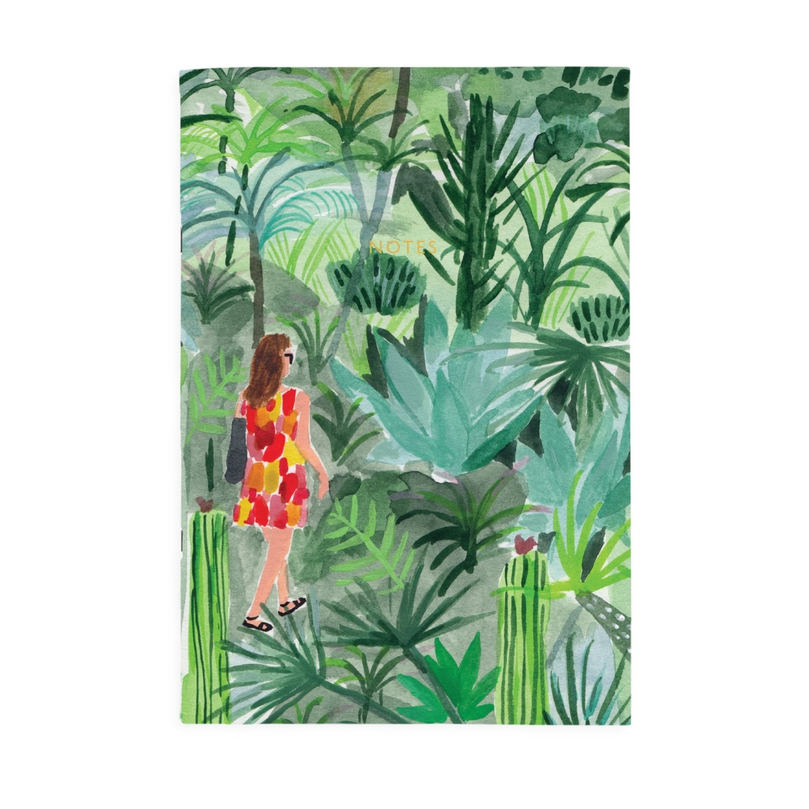 Tropical Walk A4ish Notebook