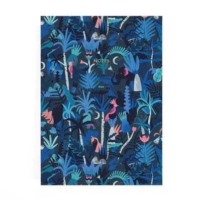 Midnight Jungle Perfect Bound Notebook
