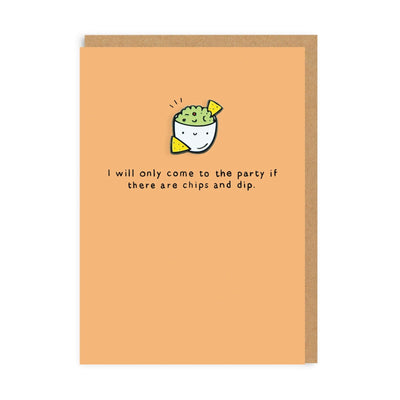 Chips & Dip Enamel Pin Greeting Card