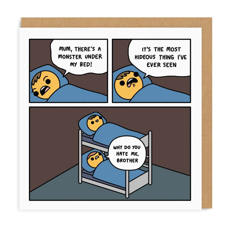 Monster Bunk Bed Greeting Card
