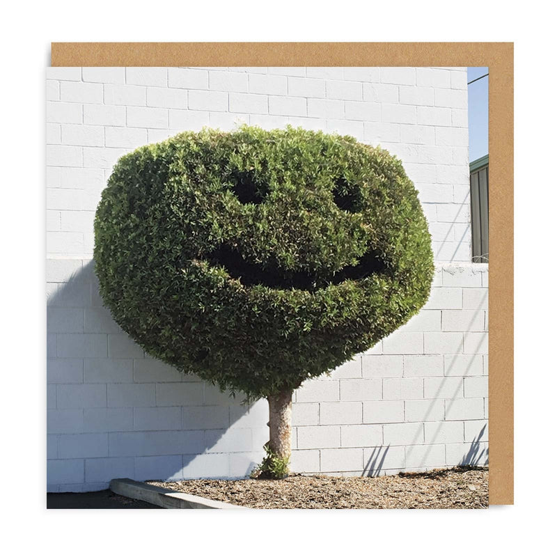 Happy Tree Square Greeting Card