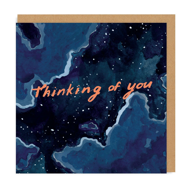 Thinking of You Night Sky Square Greeting Card