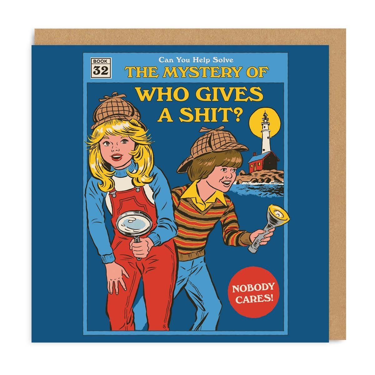 The Mystery Of Who Gives A Shit Greeting Card?
