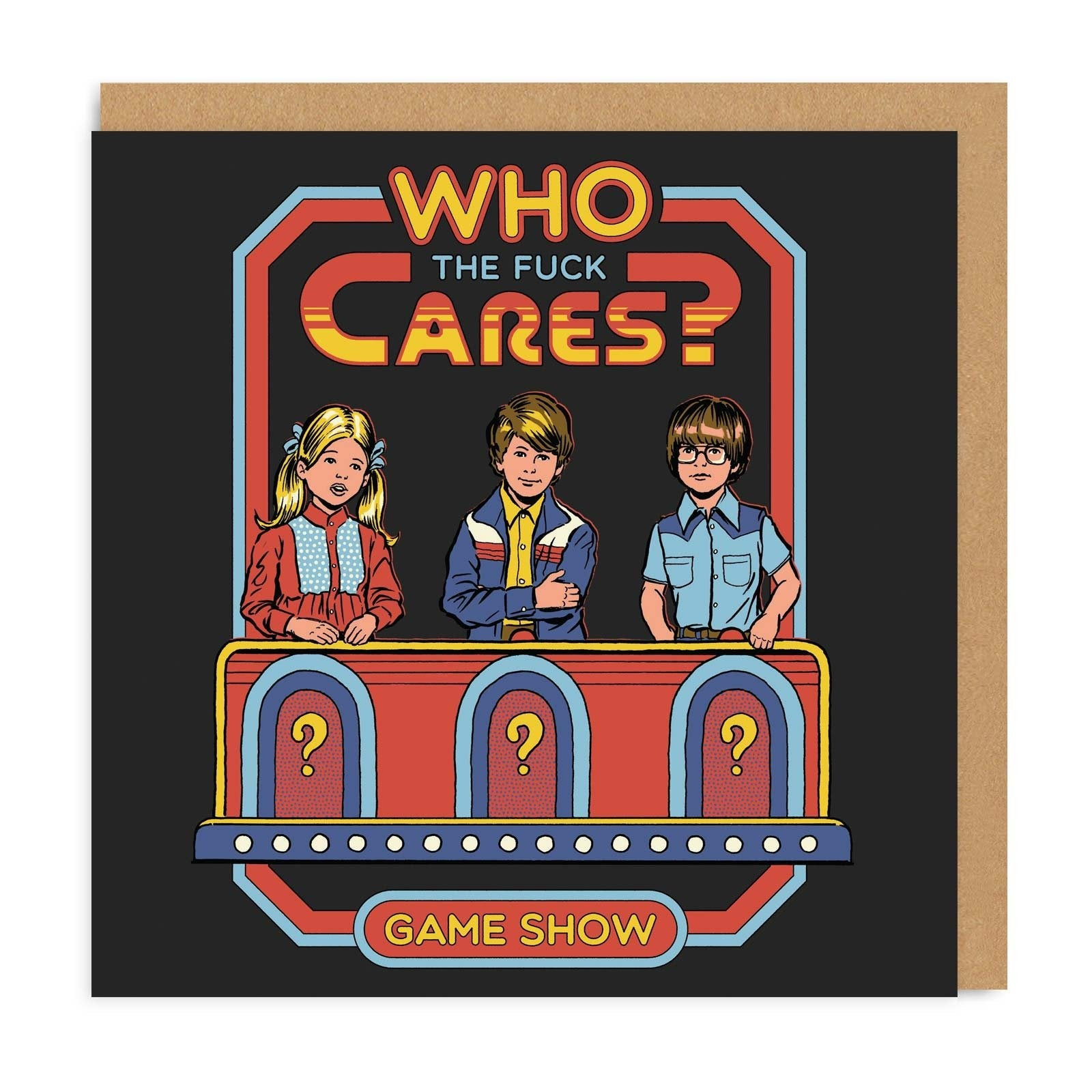 Who The F*ck Cares Square Greeting Card