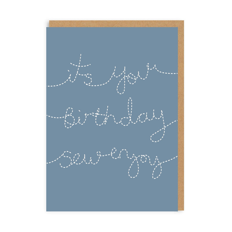 Birthday Sew Enjoy Greeting Card