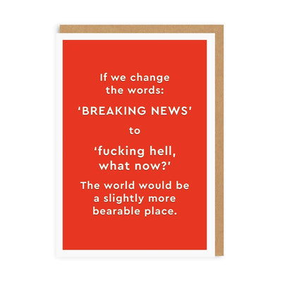 Breaking News Greeting Card