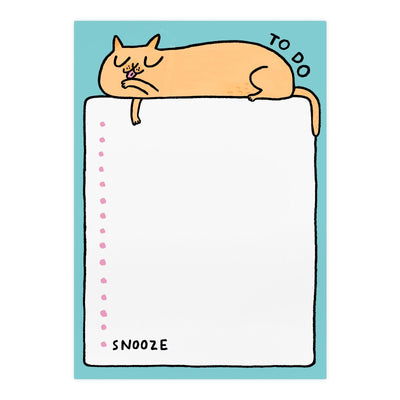 To Do Snooze Cat A5 Notepad