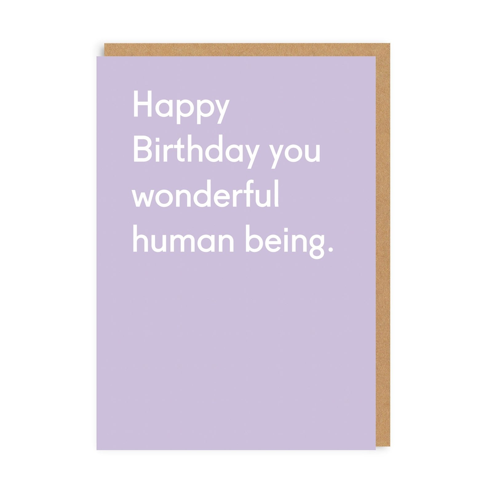 Wonderful Human Being Greeting Card