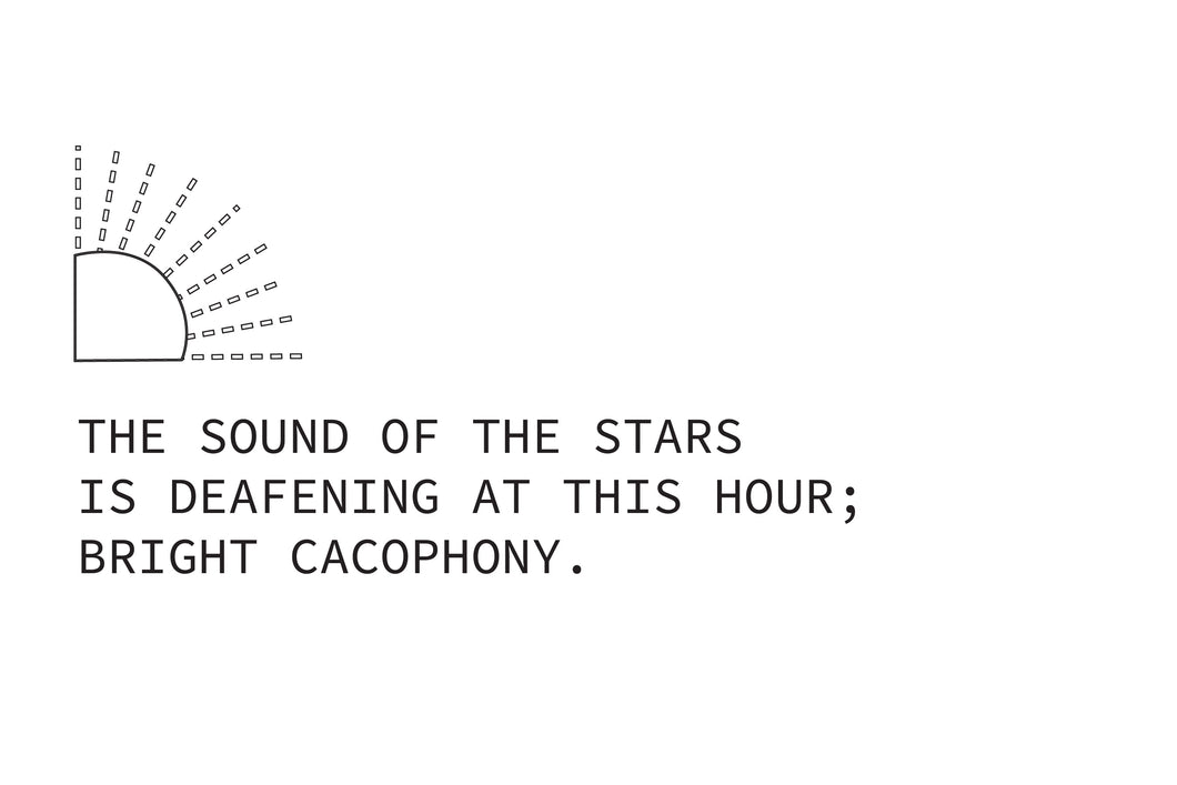 Haiku poem about stars titled Bright Cacophony