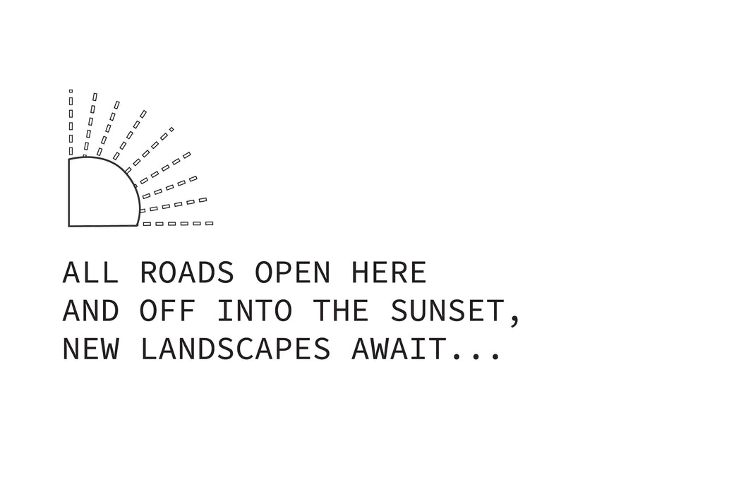 haiku poem about open roads in sunset