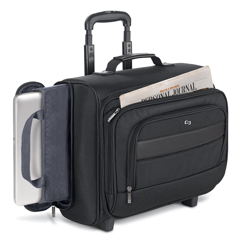 Columbus Rolling Overnighter Case Carry On Bag Solo Ny