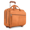 Walker Brown Leather Rolling Briefcase