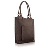 Executive Leather Bucket Tote