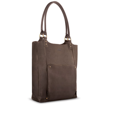 Chambers Leather/Poly Bucket Tote