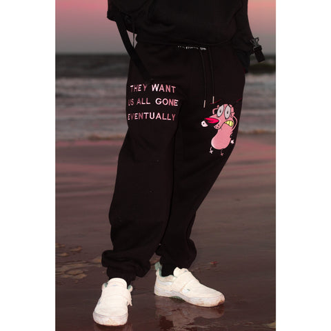 """PARANOIA ""  SWEATPANTS (BLACK)"