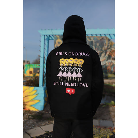 """ GIRLS ON DRUGS "" JACKET (BLACK)"
