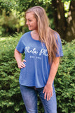 Slouchy Heather Blue Shirt