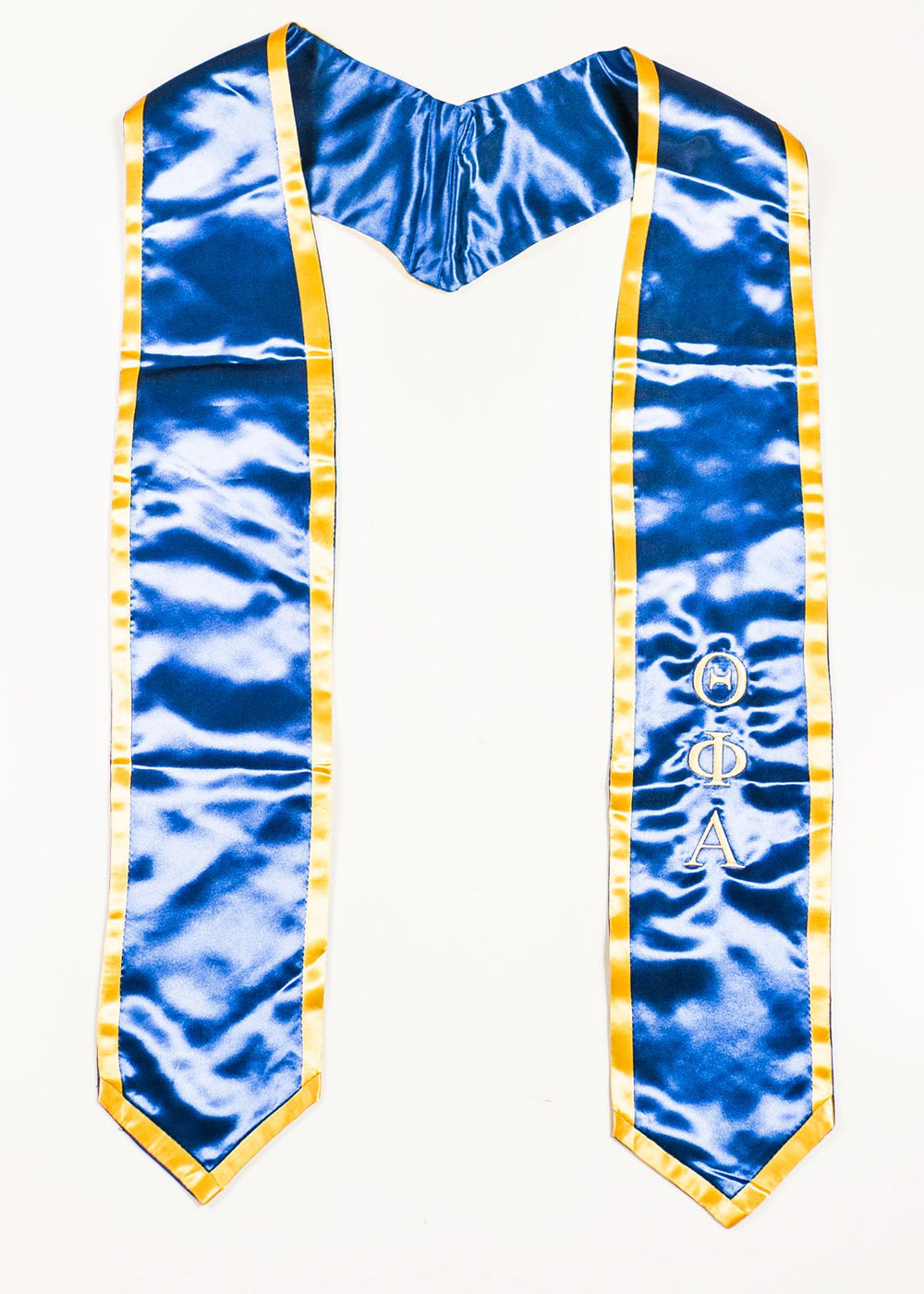 Classic Blue with Gold Trim Stole
