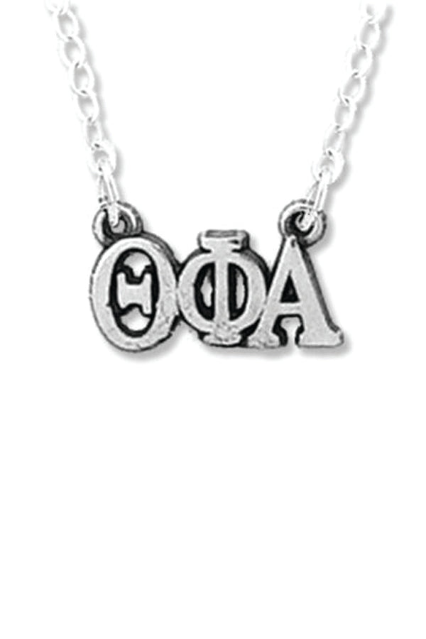 Horizontal Greek Letters Necklace