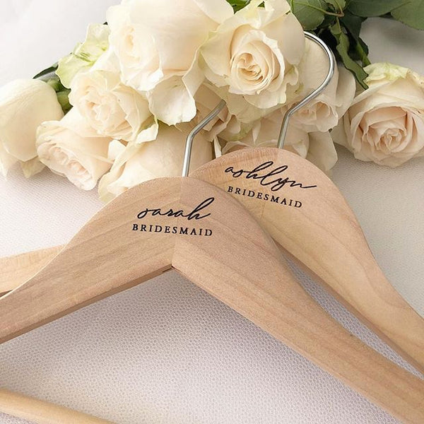 Personalised Wooden Coat/Dress Hanger