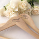 Engraved Wooden Coat/Dress Hanger