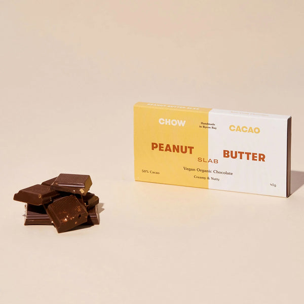 Chow Cacao - Peanut Butter Slab Vegan Chocolate Bar - Vorfreude Stationery