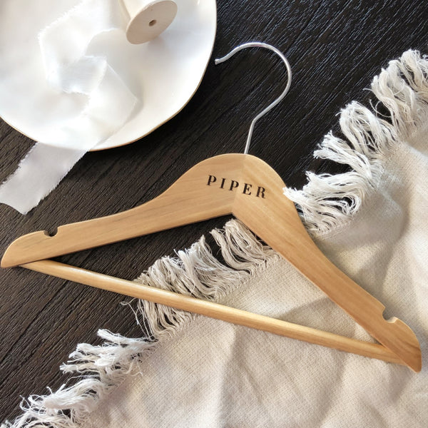 Junior Wooden Coat/Dress Hanger - Vorfreude Stationery