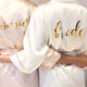 Personalised Bride and Bridal Party Satin Robe Dressing Gown