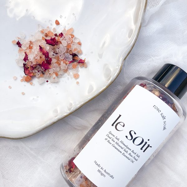 Le Soir - Rose Bath Salt Soak