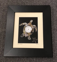 Recycled Mixed Media Watch Art