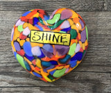 Blown Glass Worded Hearts